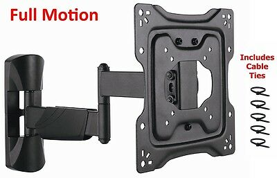 Articulating Swivel Tilt LCD LED Full Motion Smart TV Wall Mount 24-42 inch