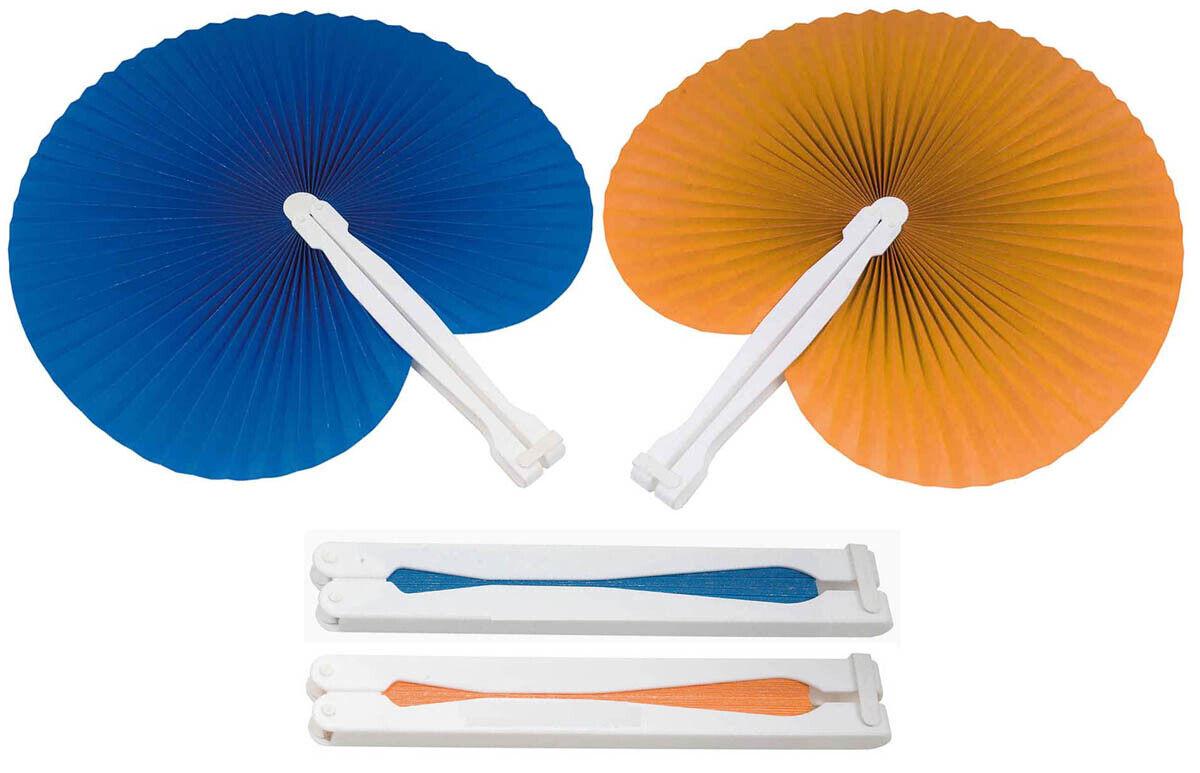 30 pz 15 blu 15 arancioni ventaglio ventagli matrimonio bomboniera segnaposto