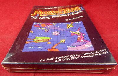 Atari XL: Hi-Res Master Type - The Typing Instruction Game - Lightning Software