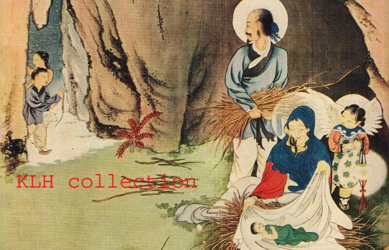 Antique 8 Chinese Christian paintings