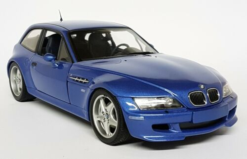 UT Models 1/18 Scale - 20431 BMW Z3 M Coupe Metallic Blue Diecast Model Car