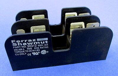 FERRAZ SHAWMUT 600V-30A FUSE BLOCK 30312