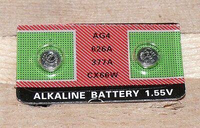 4x 1,55Volt Knopfzellen Uhren Uhr batterie AG4 377A LR626 LR66 Alkaline 12/2020