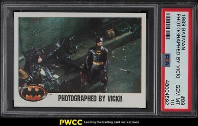 1989 Topps Batman Photographed By Vicki 89 PSA 10 GEM MINT - $137.50