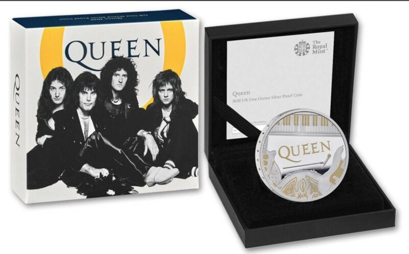 Great Britain UK  2020 QUEEN MUSIC LEGENDS 1oz Silver Proof All OGP Box COA EBUX