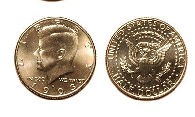 1993-D KENNEDY HALF DOLLAR - NEAR GEM BU   K860