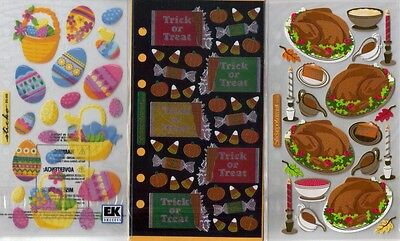 STICKO  Assorted STICKERS Choice Scrapbooking HOLIDAYS EASTE