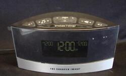 Sharper Image White Noise Machine Alarm Clock Am-Fm Radio Digital Display