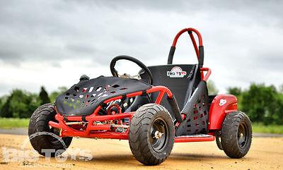Electric Go Kart 48v battery 1000w Kids Quads Off Road Go Kart Red Cart Go-Bowen