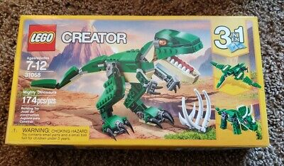 LEGO Creator Mighty Dinosaurs Toy 3-in-1 Triceratops Pterodactyl T-Rex 31058 NEW