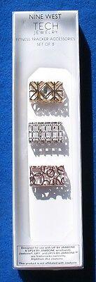 Nine West Tech Jewelry Fitness Tracker Accessories Set of 3
