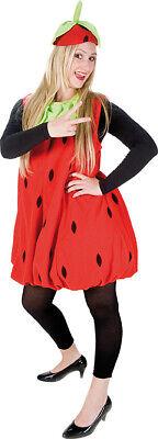 Erdbeere Plüsch Kleid Kostüm Damen Karneval Frucht