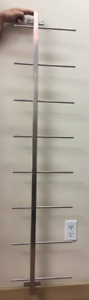 Magazine-rack-wall mounted-brushedWhite metal-excelent condition