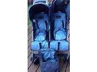 Maclaren twin traveller pushchair