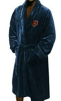 NFL CHICAGO BEARS NORTHWEST SILK TOUCH BATH ROBE NAVY ONE SIZE FITS MOST