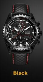 BOYZHE Men's Automatic Mechanical Chronograph Stainless Steel Watch
