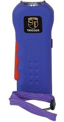 Police Stun Gun Purple 18mv Rechargeable With Led Flashlight Taser Case New