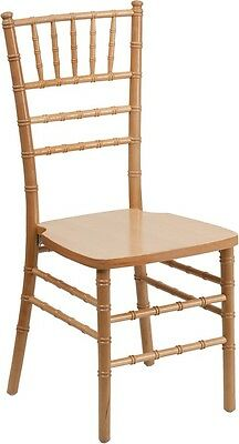 Natural Wood Chiavari Chair - Commercial Quality Stackable Wood Chiavari Chair