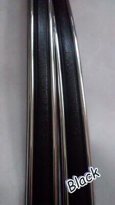 - CLASSIC VINTAGE CHROME BLACK BODY SIDE MOLDING TRIM MOULDING DOOR FENDER 5/8