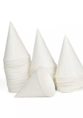 Rubbermaid Paper Cone Cups Snow Cone Slush Snowie Ice Slush4oz X 200pc