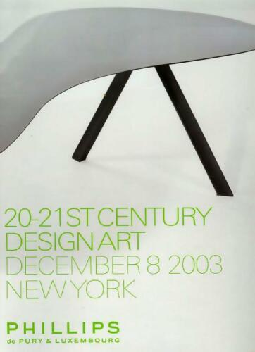 Phillips 20th C Furniture Deco Design Nakashima Prouve Arad Auction Catalog 2003