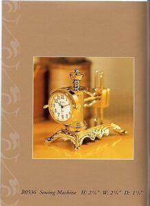 Bulova-Miniature-Brass-Sewing-Machine-Clock-Quartz-with-Original-Box
