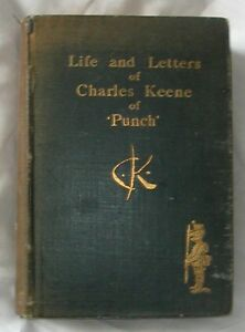 """Antique Book Life & Letters of Charles Keene of """"Punch"""" 1892"""