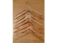 8 Beautiful High Quality Solid Wood Coat Hangers