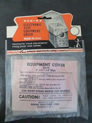 Vintage Robins Electronic Test Equipment Cover Fits Eico Heathkit Knight More