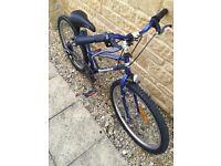 TopBike steel bicycle. Blue bike. 24-inch wheels.
