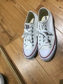 Converse Chuck Taylor All Star Core White Ox Trainers / Optical White / UK 5