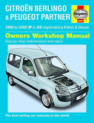Haynes Workshop Manual Citroen Berlingo & Peugeot Partner Petrol & Diesel 96-05