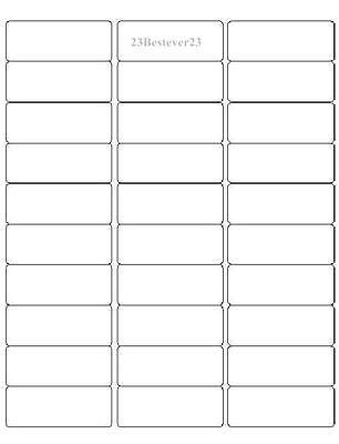 1500 Blank 1x 2-58 White Mailing Address Return Laser Labels 50 Sheets