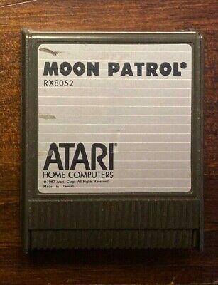 Moon Patrol Atari 400 800 XL XE XEGS computer videogame cartridge manual tested