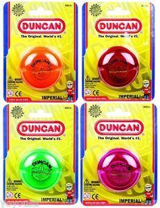 Duncan Imperial Yo-Yo - Lot of 4 (Green/Red/Orange/Fuchsia) + FREE STRINGS