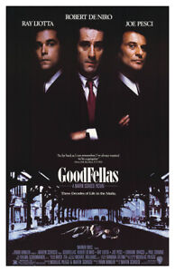 New Goodfellas Movie Poster with Plastic Cover Case