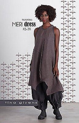 Meri Dress Sewing Pattern  TG-A7086 by Tina Givens Lagenlook Style- XS- 2X