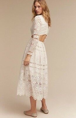 NWT $700 Thurley Fallon Dress White Lace Open Back Size 10 AUS 6 US