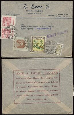 COLOMBIA 1948 BATERO 4 COLOUR ADVERT COVER