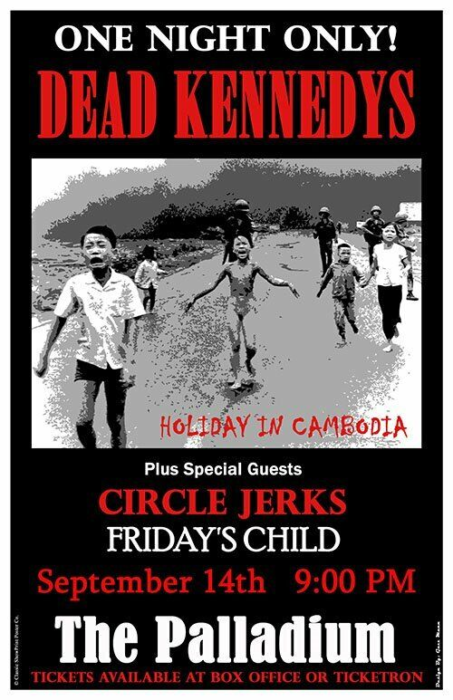 1980 DEAD KENNEDYS *HOLIDAY IN CAMBODIA* 11X17 REPLICA CONCERT POSTER