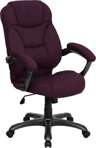 Grape Microfiber Fabric Computer Office Desk Chair EBay
