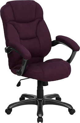 Grape Microfiber Fabric Computer Office Desk Chair