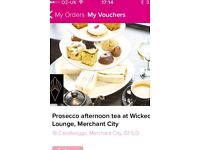 Prosecco afternoon tea - merchant city, Glasgow