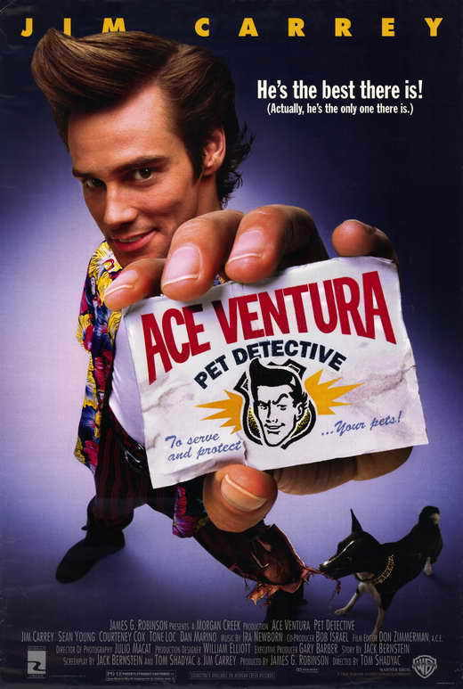 ACE VENTURA: PET DETECTIVE Movie Promo POSTER Eli Wallach Terence Hill