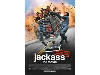 "JACKASS THE MOVIE Poster Licensed-New-USA 27x40/"" Theater Size Knoxville"