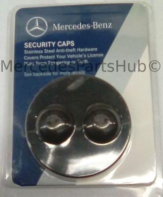 Genuine  Black Security Caps For License Frame Q-6-88-0146