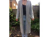 Long grey cardigan size 10 New Look