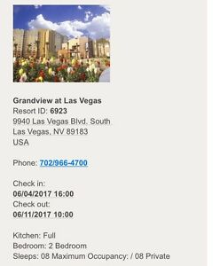 Week resort king accommodations Vegas June 4-11