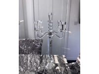 5 tier crystal candle holder