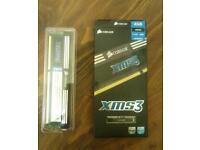 Corsair DDR RAM 4gb PC-1600MHz never used.